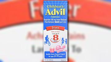 Children's Advil recalling one specific lot