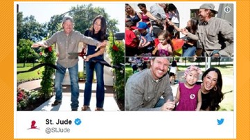 Fixer Upper stars Chip and Joanna Gaines donate $1.4M to St. Jude