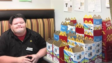 'He didn't just bring joy, he was joy': Smiles, tears as 27-year McDonald's employee's life remembered
