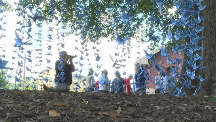 Woman makes 2,977 paper cranes to honor the lives lost on 9/11