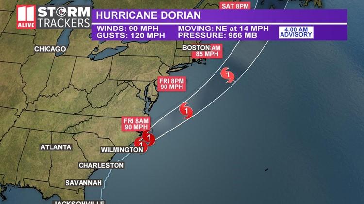 09-06 hurricane dorian 4a, track